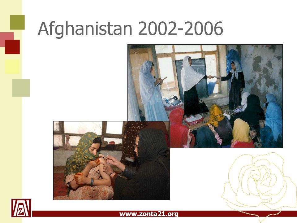 www.zonta21.org Afghanistan 2002-2006