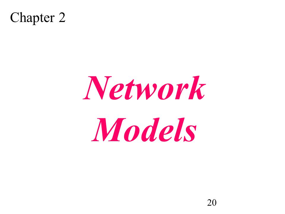 20 Chapter 2 Network Models