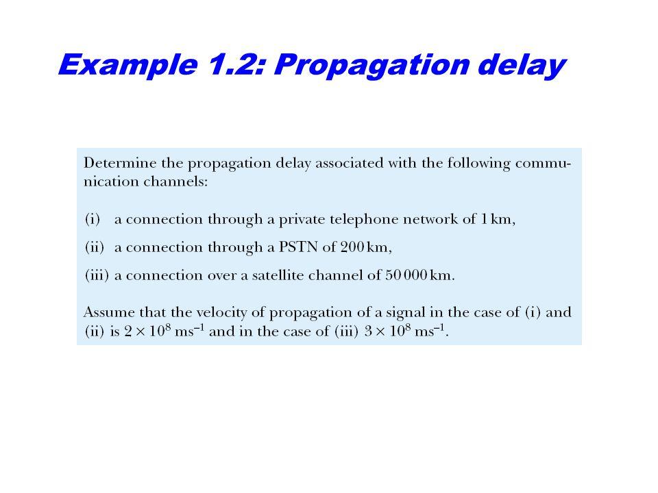 Example 1.2: Propagation delay