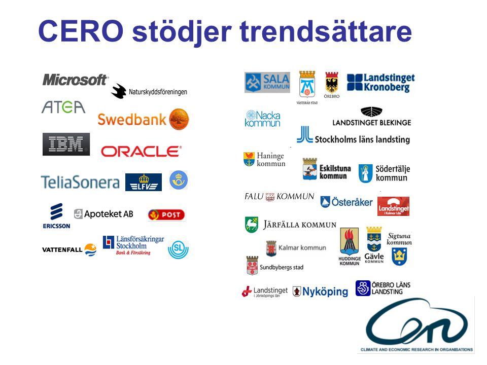 CERO stödjer trendsättare