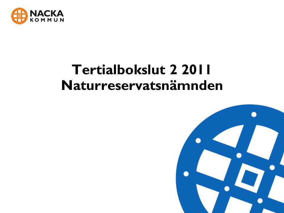 Tertialbokslut 2 2011 - Naturreservatsnämnden VERKSAMHETSRESULTATINSATTA RESURSER Analys: Läget i naturreservaten bedöms vara bra.