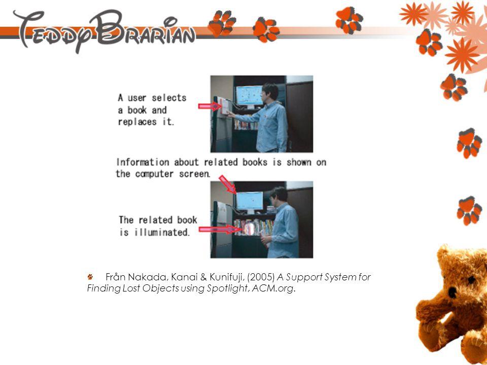Från Nakada, Kanai & Kunifuji, (2005) A Support System for Finding Lost Objects using Spotlight, ACM.org.