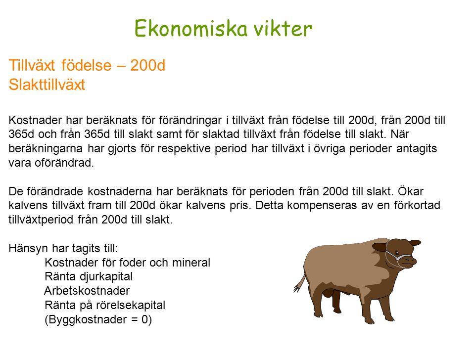 EUROP-klass Fettgrupp Intäkter har beräknats vid förbättrad klassificering av ungtjuren.