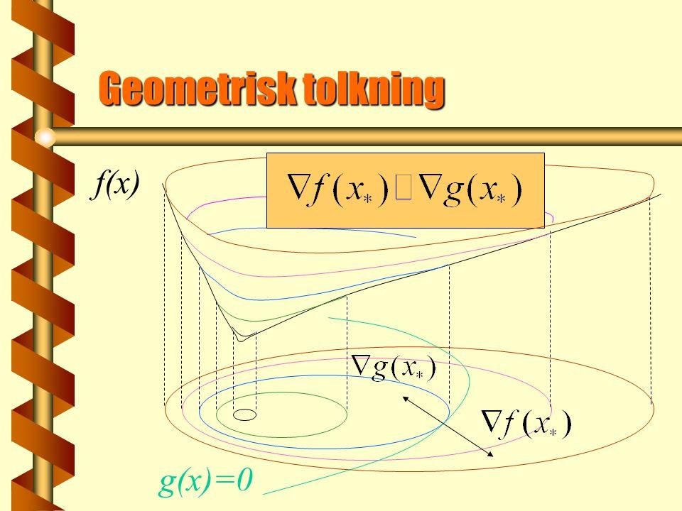 Geometrisk tolkning g(x)=0 f(x)