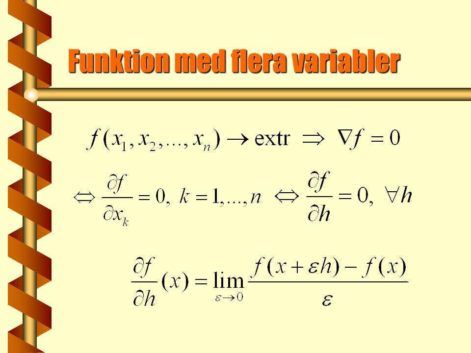 Funktion med flera variabler