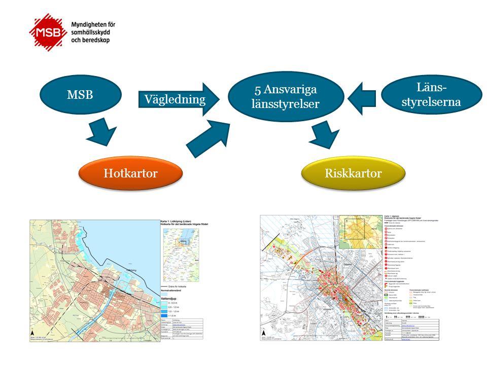 Hotkartor 50-årsflödet 2D karterat för avgränsat område 100-årsflödet 2D/1D karterat hela sträckan BHF 2D/1D karterat hela sträckan Riskkartor Avgränsning utifrån karteringsområdet för 50 årsflödet.