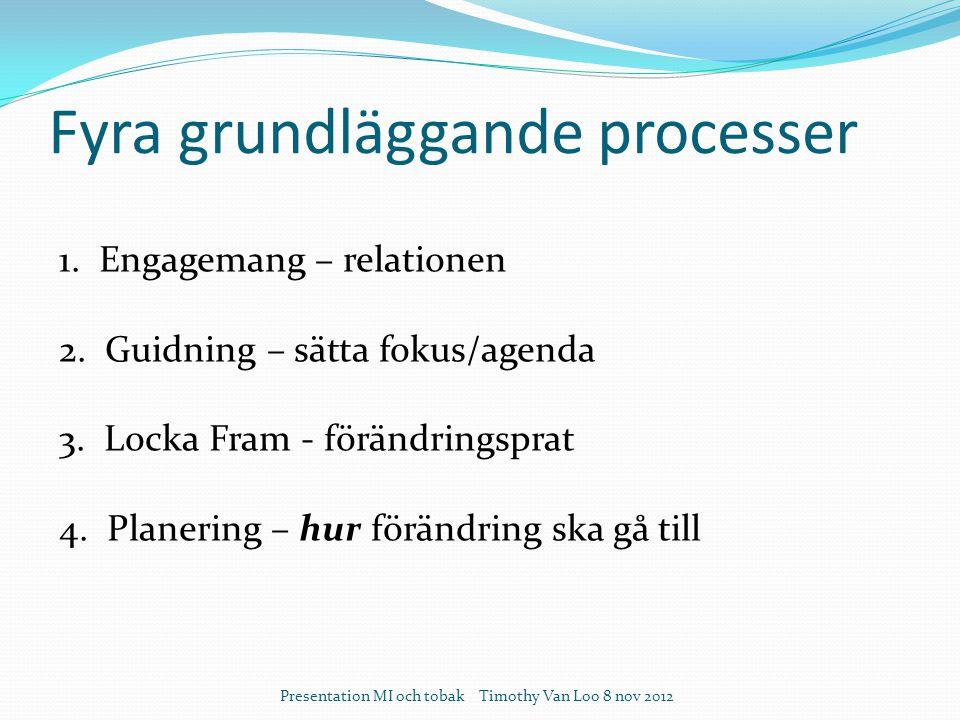 Fyra grundläggande processer Presentation MI och tobak Timothy Van Loo 8 nov 2012 1.