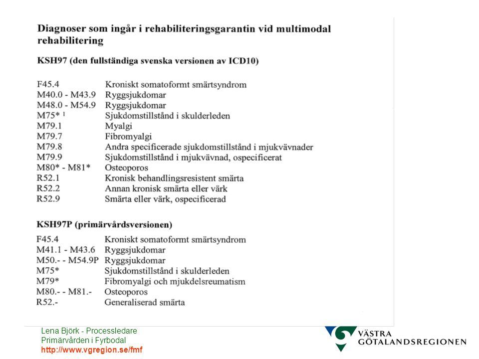 Lena Björk - Processledare Primärvården i Fyrbodal http://www.vgregion.se/fmf
