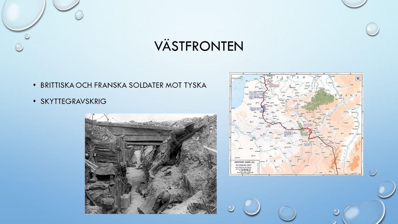 VÄSTFRONTEN BRITTISKA OCH FRANSKA SOLDATER MOT TYSKA SKYTTEGRAVSKRIG