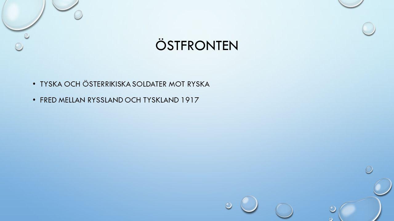 ÖSTFRONTEN TYSKA OCH ÖSTERRIKISKA SOLDATER MOT RYSKA FRED MELLAN RYSSLAND OCH TYSKLAND 1917