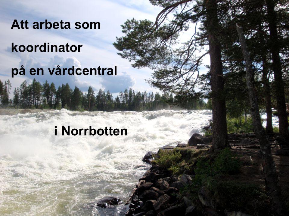 1 Att arbeta som koordinator på en vårdcentral i Norrbotten