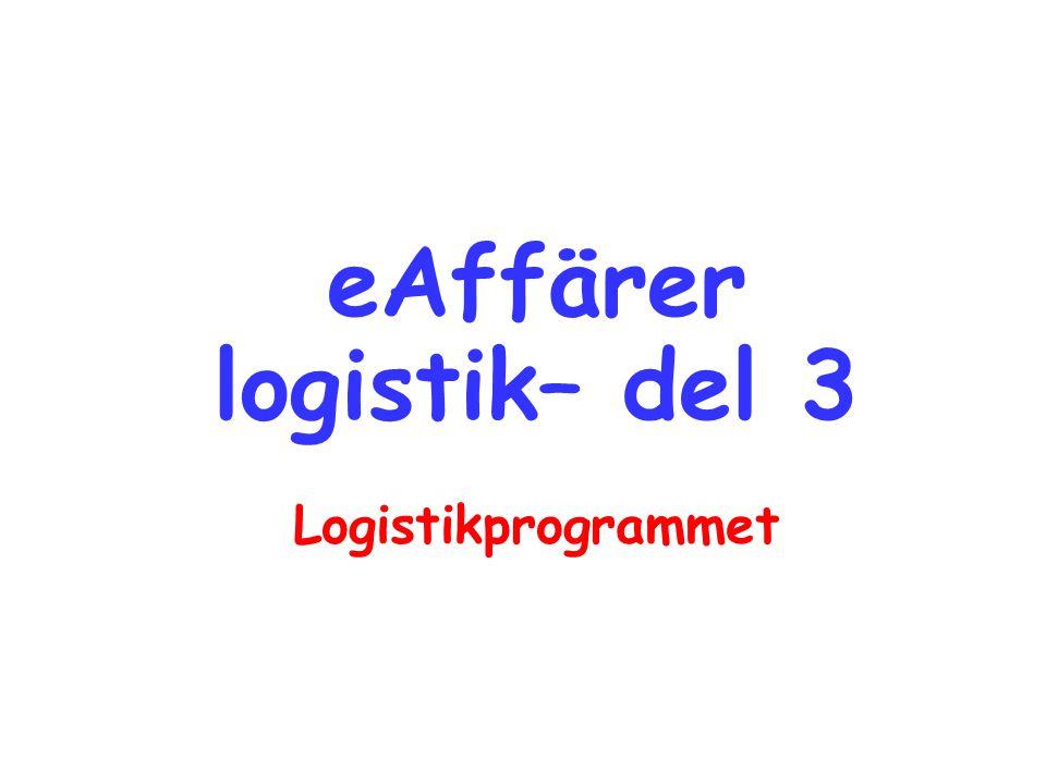 eAffärer logistik– del 3 Logistikprogrammet