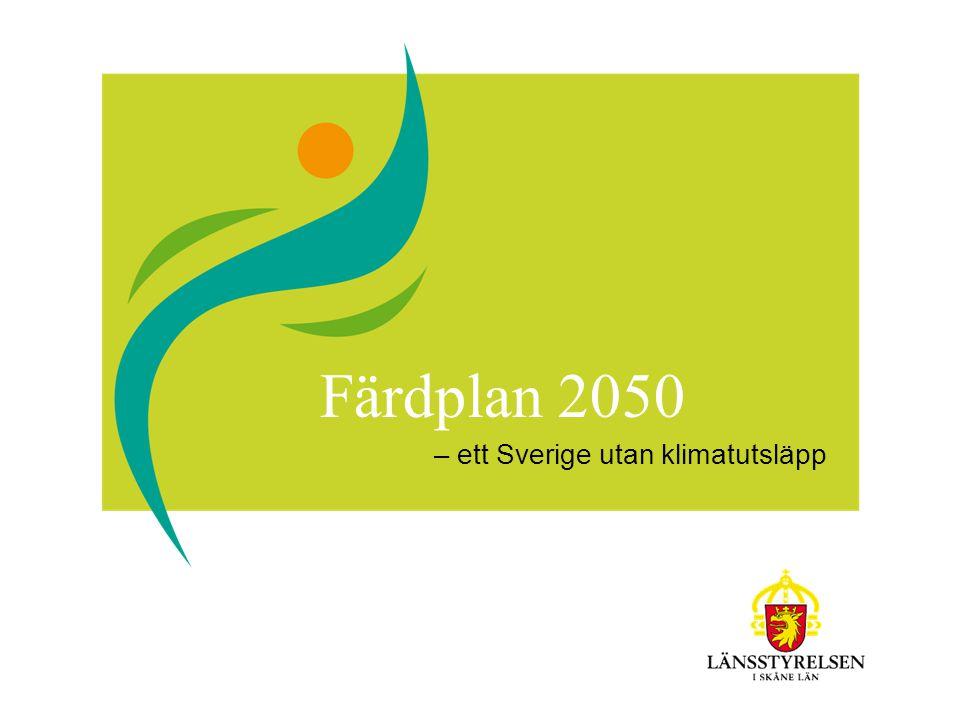 Färdplan 2050 – ett Sverige utan klimatutsläpp