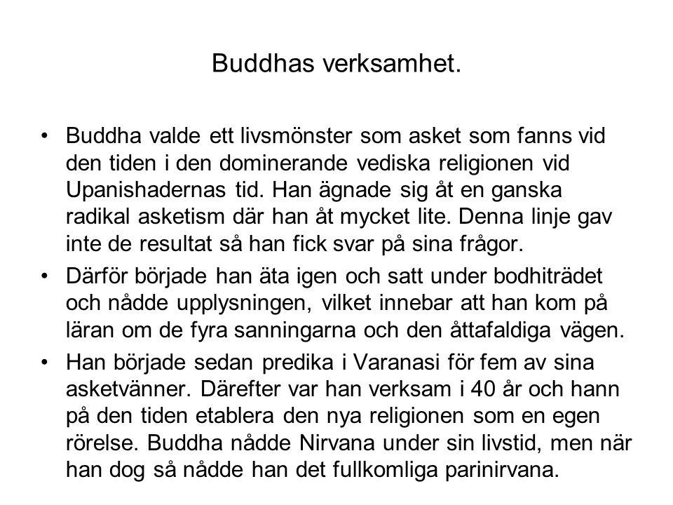 Buddhas verksamhet.