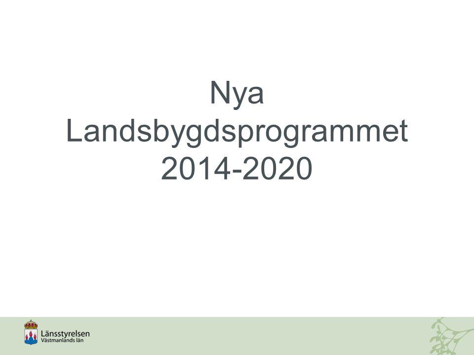 Nya Landsbygdsprogrammet 2014-2020