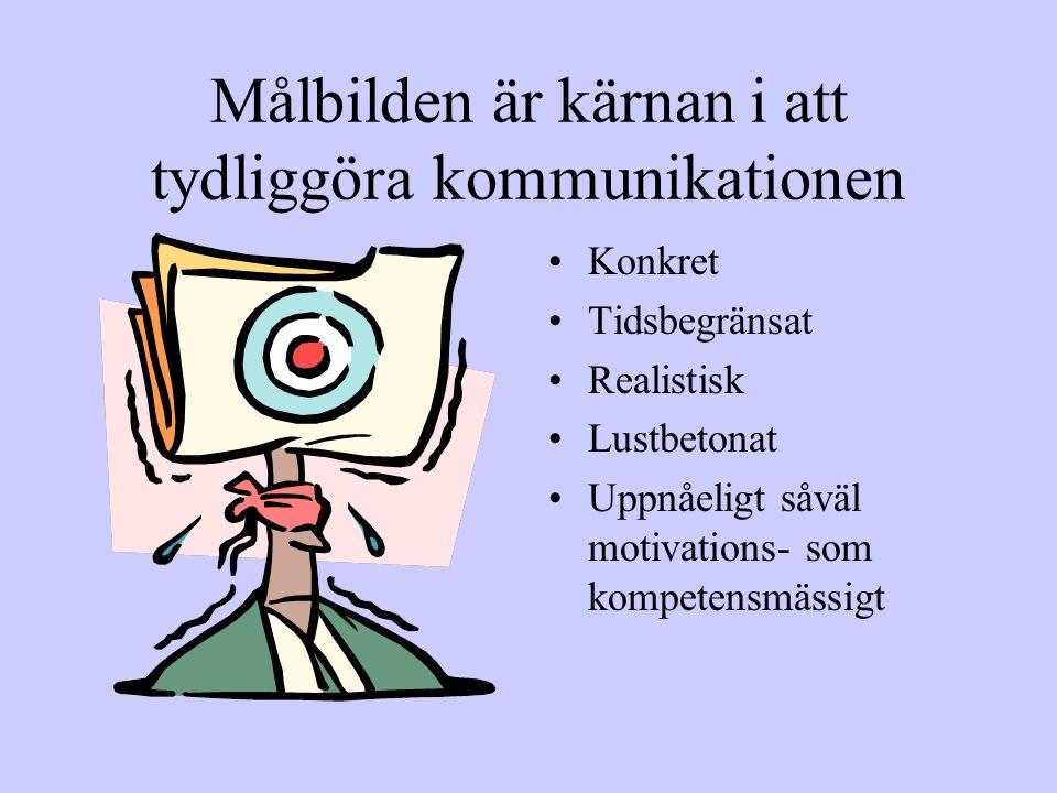 Konceptet Reducera inbillningsnivån Öka insiktsnivån Balansera mellan att roa och oroa Jobba systematiskt och långsiktigt Integrera alla individer och