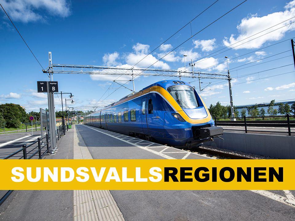 De sex kommunerna i Sundsvallsregionen Hudiksvall Härnösand Nordanstig Sundsvall Timrå Ånge Tillsammans är vi nära 200 000 invånare i regionen.