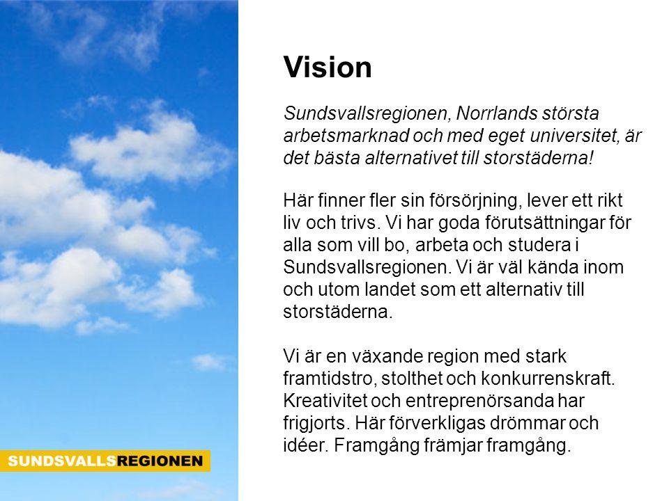 Sundsvallsregionen, Norrlands största arbetsmarknad och med eget universitet, är det bästa alternativet till storstäderna! Här finner fler sin försörj