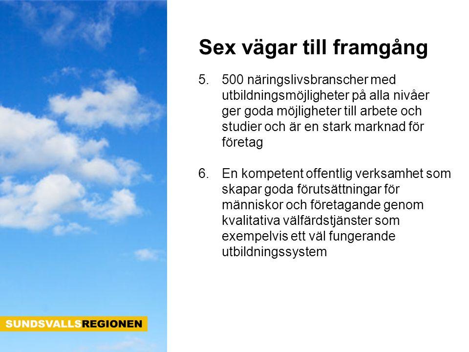 Uppgiften för Sundsvallsregionen är att bredda och fördjupa samarbetet så att kommunerna tar tillvara på utvecklingsmöjligheterna för vår region.