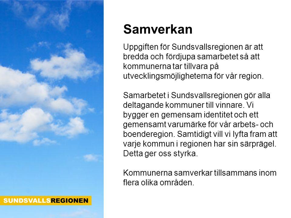 Uppgiften för Sundsvallsregionen är att bredda och fördjupa samarbetet så att kommunerna tar tillvara på utvecklingsmöjligheterna för vår region. Sama