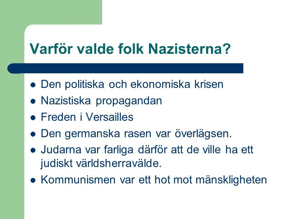 Varför valde folk Nazisterna.