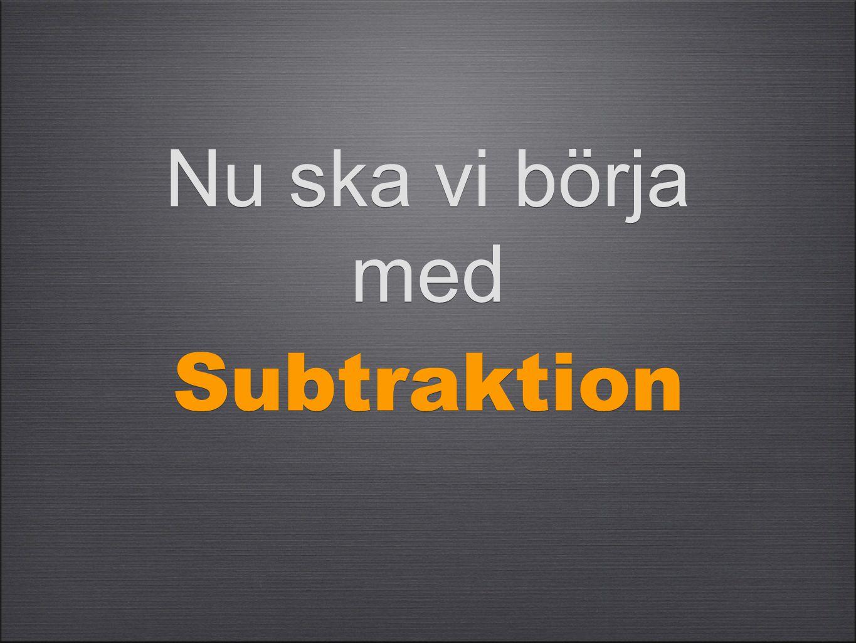 Subtraktion betyder minus eller ta bort minus eller ta bort