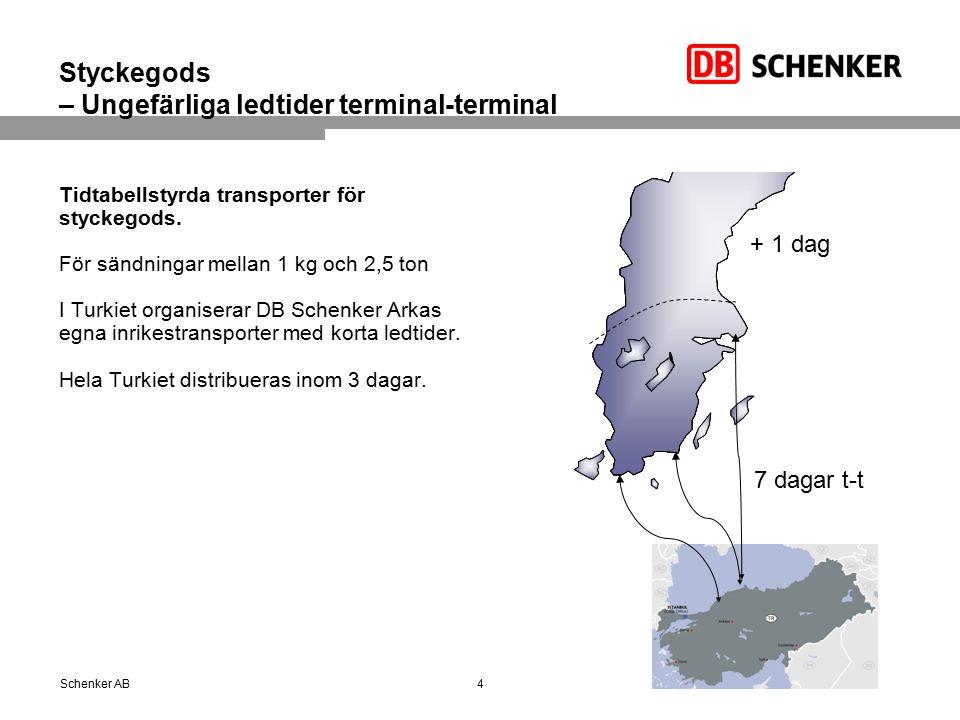 Inrikes ledtider: Ledtider från Istanbul för förtullat gods Sameday Delivery Zone 24 hr.