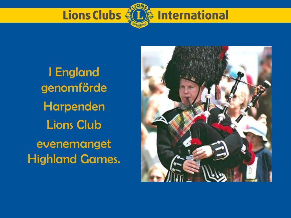 I England genomförde Harpenden Lions Club evenemanget Highland Games.