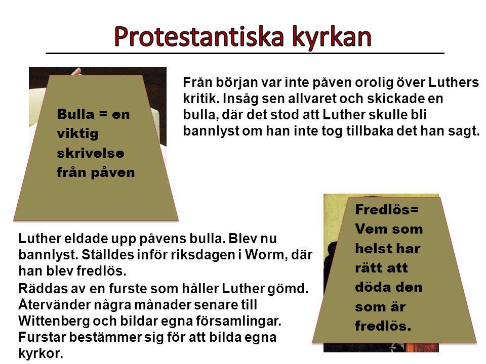 Från början var inte påven orolig över Luthers kritik.