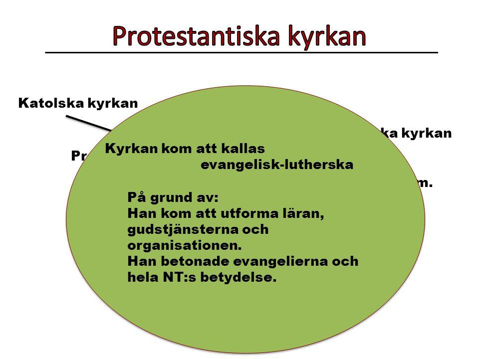 Katolska kyrkan Protestantiska kyrkan Lutherska kyrkan Frikyrkor m.m.