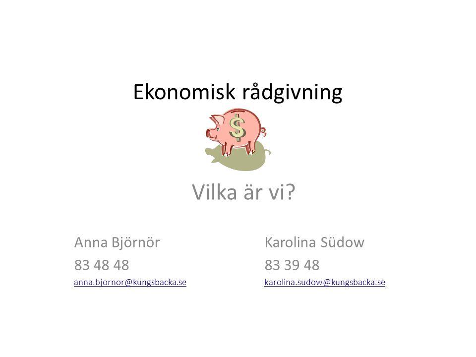 Ekonomisk rådgivning Vilka är vi.