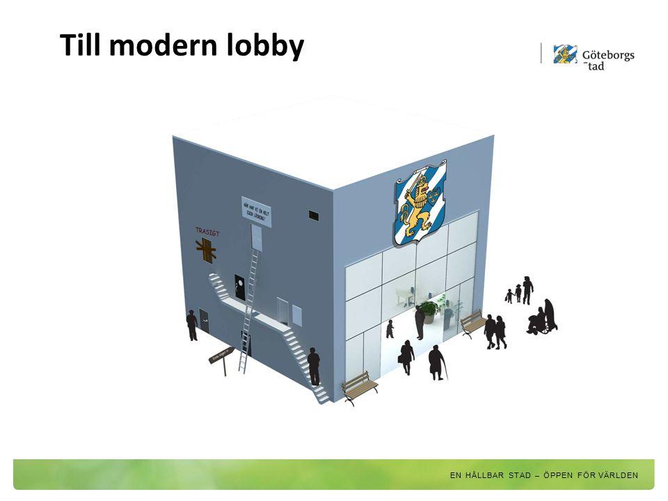Till modern lobby EN HÅLLBAR STAD – ÖPPEN FÖR VÄRLDEN