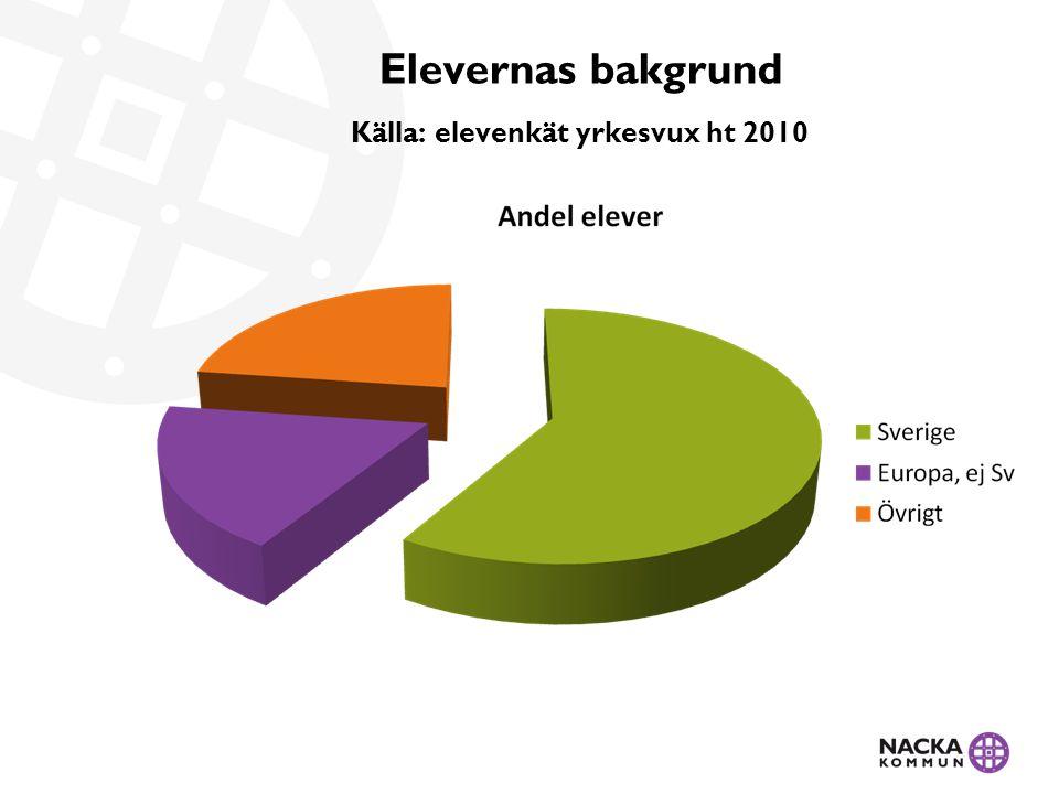 Största kurs, antal kursdeltagare 2010 Källa: SCB Sfi: kurs C 44 % (2010) Grundläggande vux: sas 54 % (ht 2010) Gymn vux: datorkunskap 3,3 % (ht 2010)
