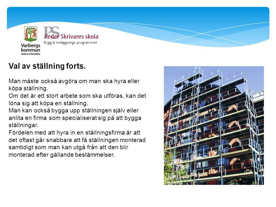 Bygg & Anläggnings programmet Lastklasser.