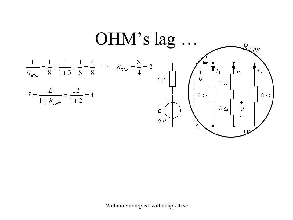 William Sandqvist william@kth.se OHM's lag … R ERS