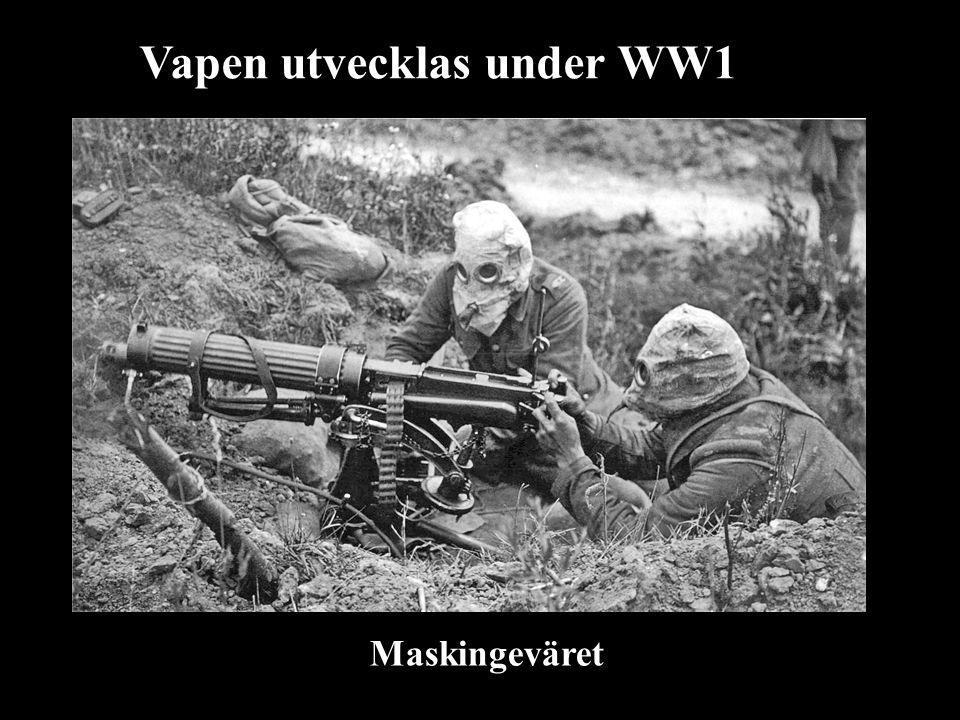 Vapen utvecklas under WW1 Maskingeväret