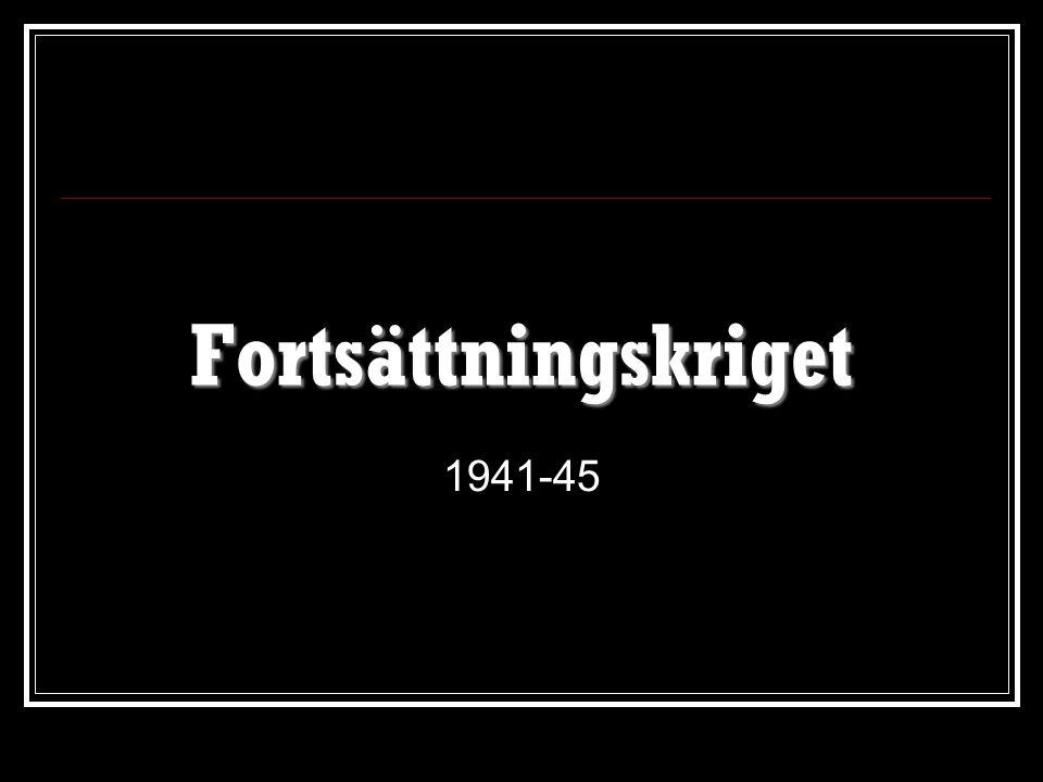 Fortsättningskriget 1941-45