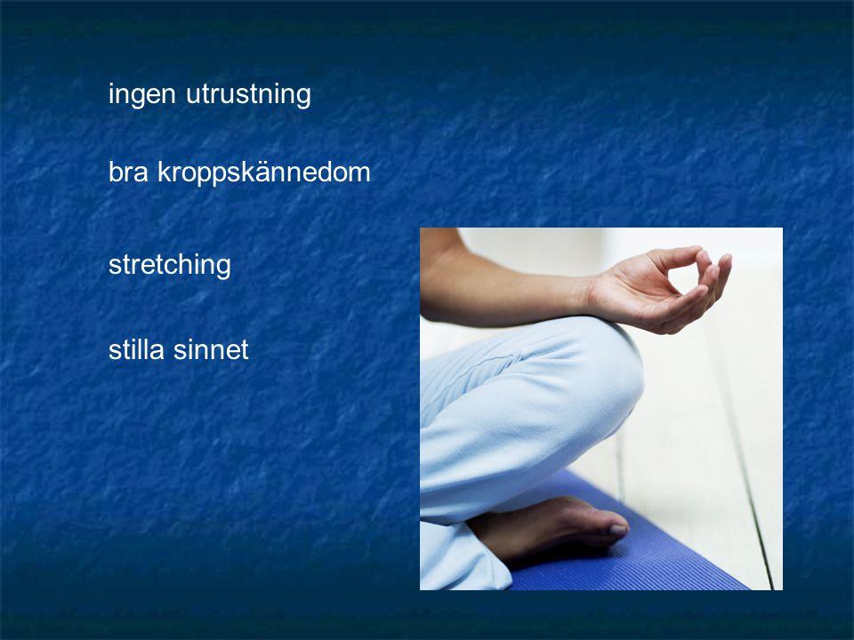 ingen utrustning bra kroppskännedom stretching stilla sinnet