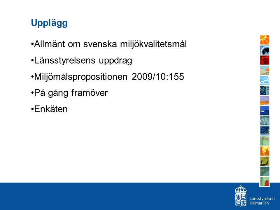 Arbetet framöver… efter miljömålspropositionen - 2011 och framåt 1.När etappmålen kommer ska de regionaliseras.