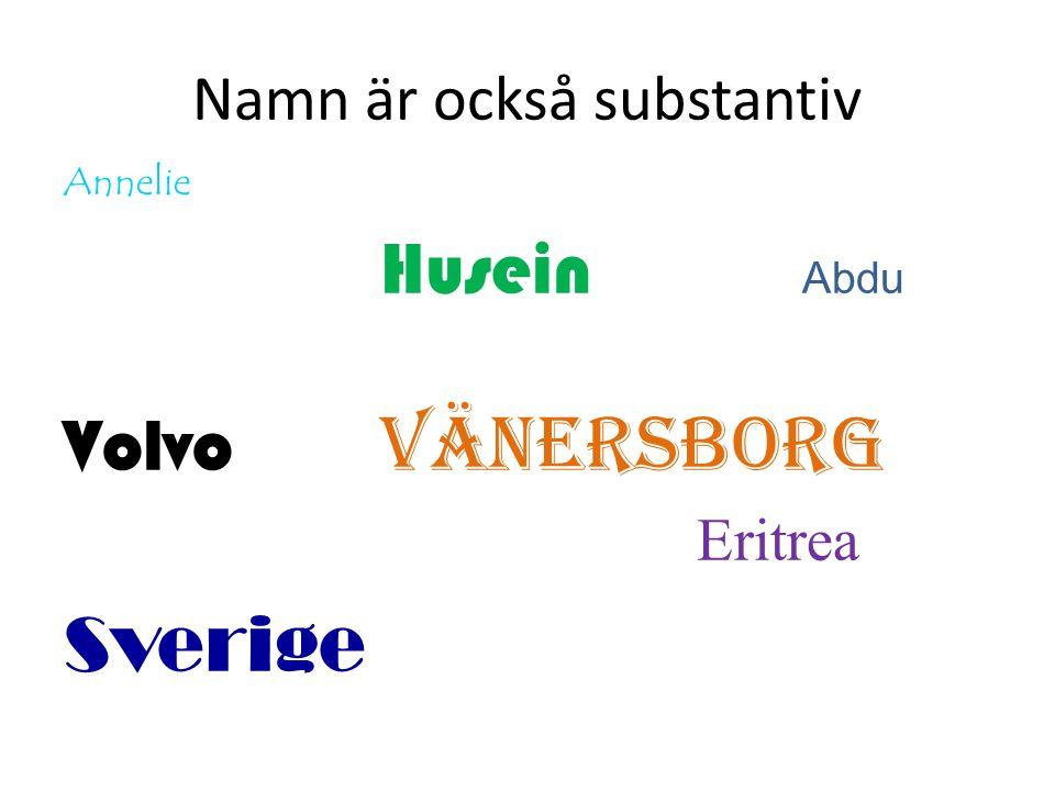 Namn är också substantiv Annelie Husein Abdu Volvo Vänersborg Eritrea Sverige