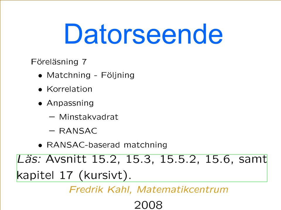 Datorseende TexPoint fonts used in EMF: AA