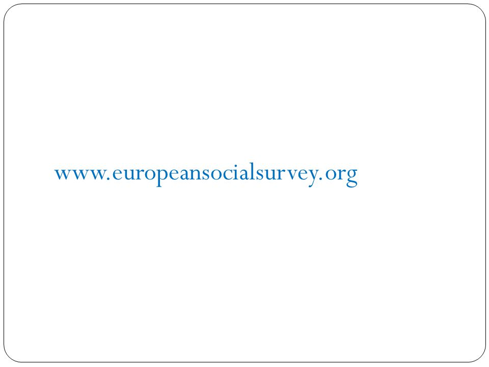 www.europeansocialsurvey.org