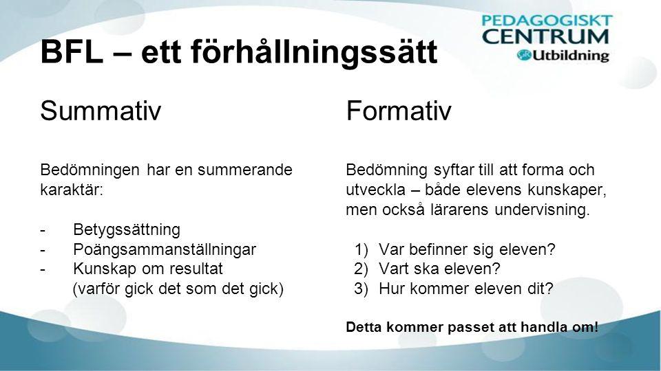Återkoppling som för lärandet framåt Poäng.Prov. Betyg.