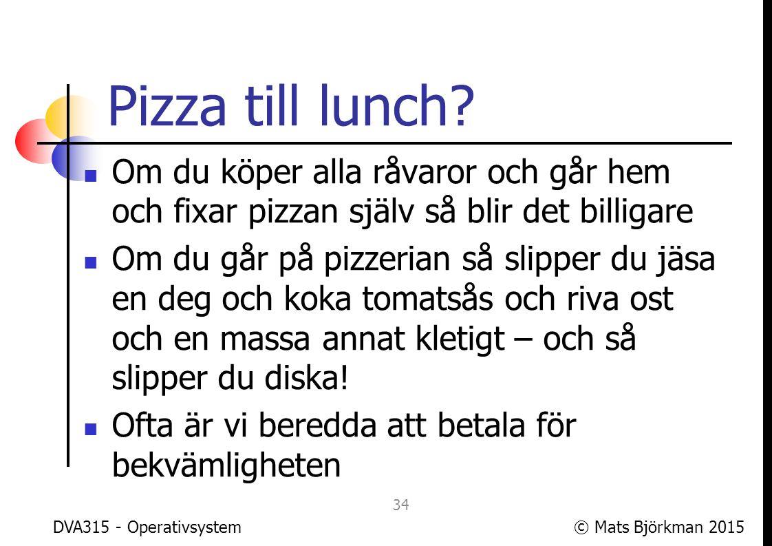© Mats Björkman 2015 OS till lunch.