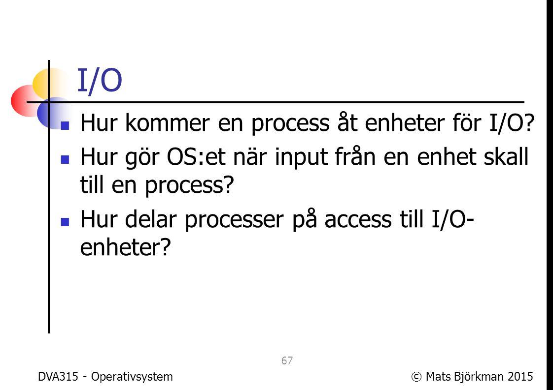 © Mats Björkman 2015 Filsystem Hur hanterar man data på lagringsminne.