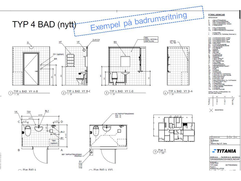 Exempel på badrumsritning