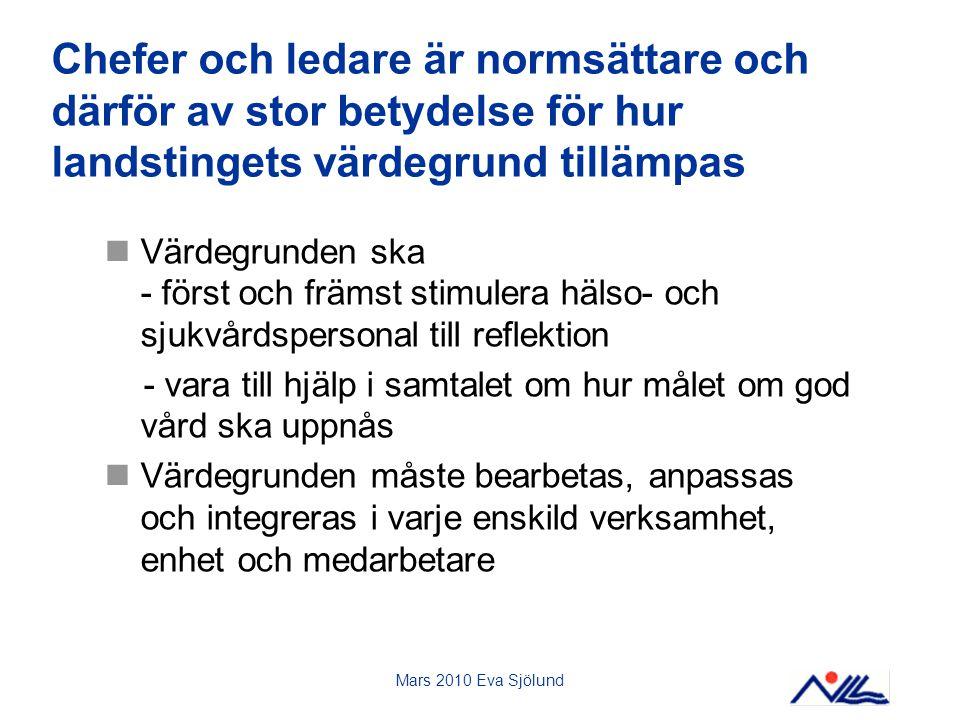 Mars 2010 Eva Sjölund