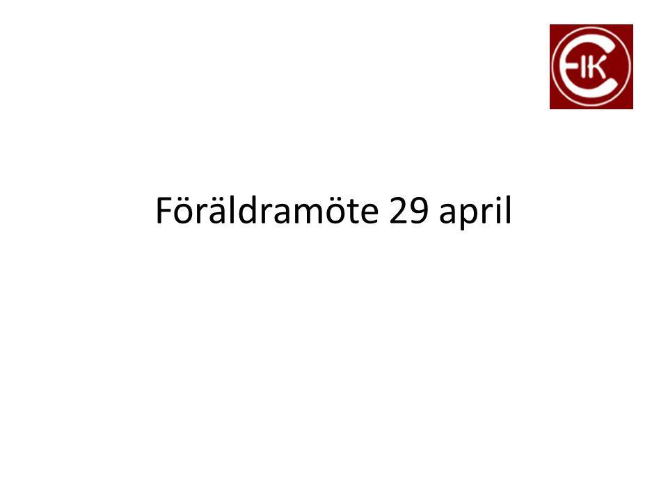 Föräldramöte 29 april