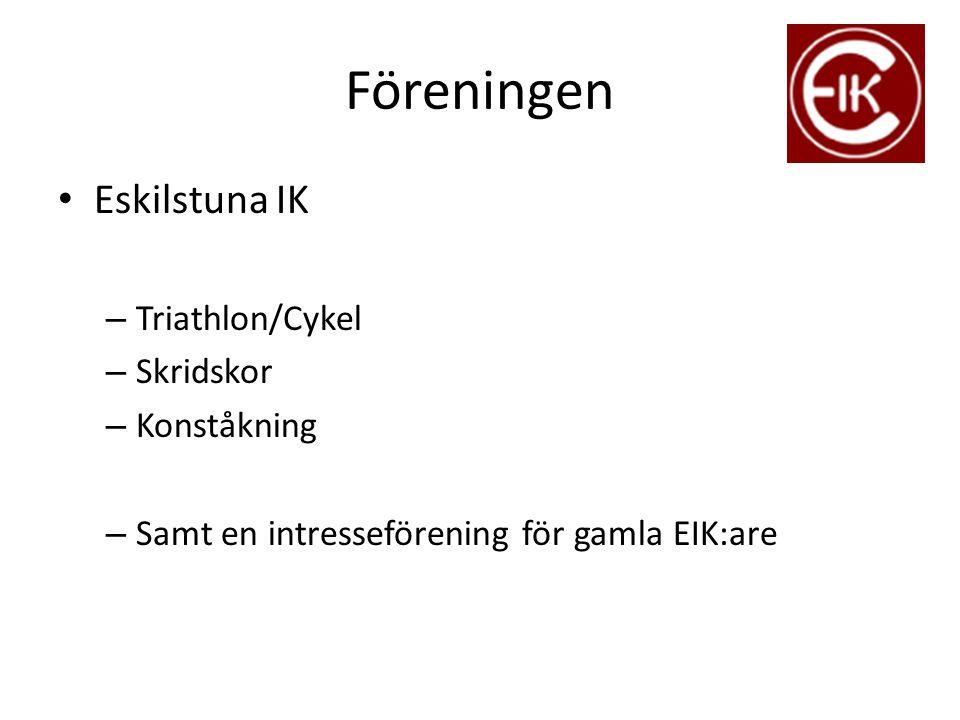 Föreningen Eskilstuna IK – Triathlon/Cykel – Skridskor – Konståkning – Samt en intresseförening för gamla EIK:are