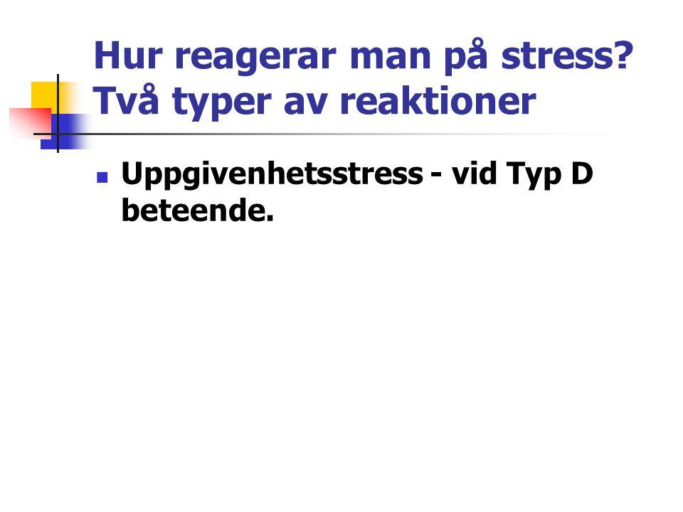 Stressreaktionerna startar i hjärnan Start av aggressivitetssstress: Amygdala och hippocampus.